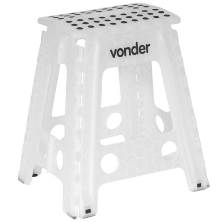 Banqueta Plástica Dobrável altura 450 mm - Vonder