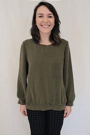 008 - Molde de blusão franzido
