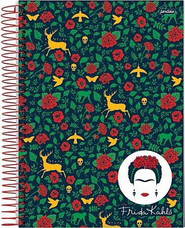 Caderno Universitário Frida Kahlo Capa Dura 80 Folhas- Jandaia