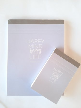 Kit 2 Cadernetas Happy Lilás 80 folhas - Tilibra