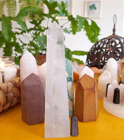 Cristal Obelisco Fluorita Multicolor Natural