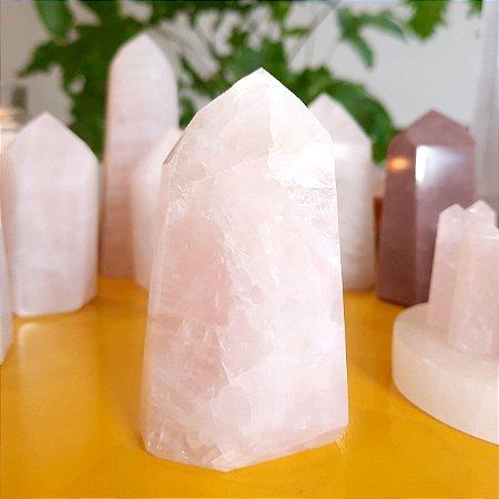 Cristal de Ponta Gerador Quartzo Rosa