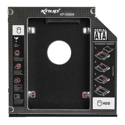 Case para Hd/Ssd Caddy Adaptador Sata 12,7 mm Knup - KP-HD022