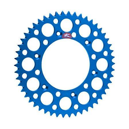 Coroa Renthal Alumínio YZ/WR 125/250/400/426/450F 99/15 - 520x50 Dentes - Azul