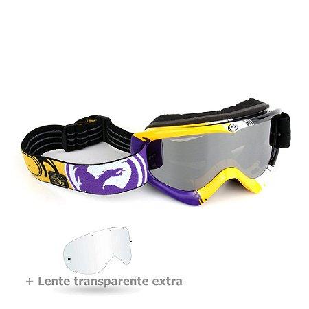 Óculos Dragon Mdx Nat Adams Com Lente Prata Espelhada + Transparente