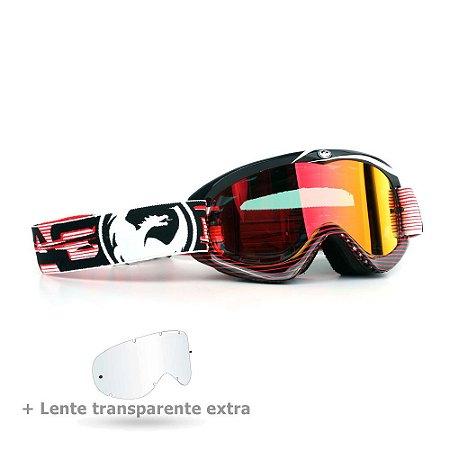 Óculos Dragon MDX Nerve Red - Lente Vermelha Espelhada + Lente Transparente