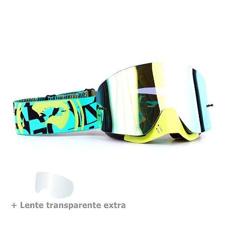 Óculos Dragon NFX Cast - Lente Dourada Espelhada + Lente Transparente