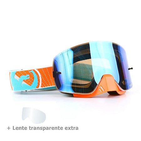 Óculos Dragon NFX-S Vert - Lente Azul Espelhada + Lente Transparente