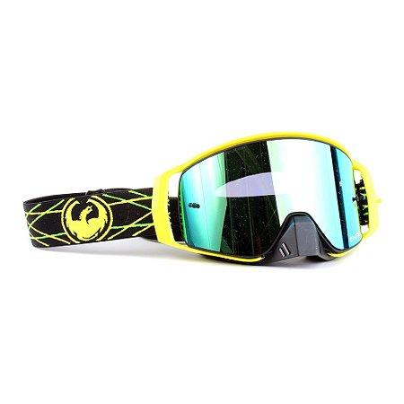 Óculos Dragon NFX2 Pinned - Lente Dourada Fumê +Tear Off Pack + Lens Shield