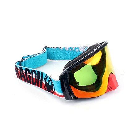 Óculos Dragon NFX2 Shot - Lente Amarela/Vermelha + Tear-Off Pack C/10 + Lens Shield