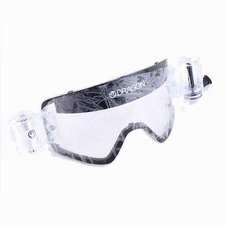 Lente Transparente Para Oculos Dragon NFX Roll-Off