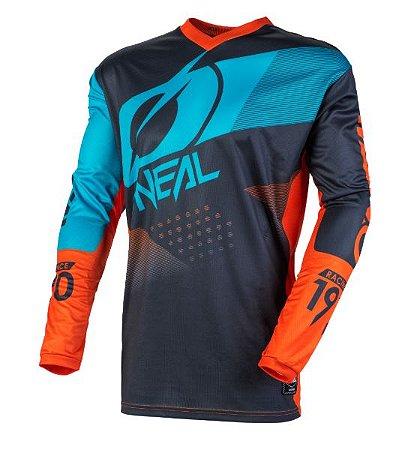 Camisa ONEAL Element Factor - Cinza/Laranja/Azul