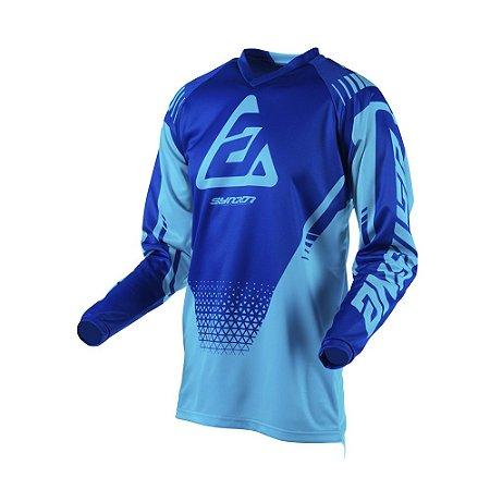 Camisa Answer Syncron Drift Astana/Reflex - Azul