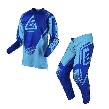 Calça + Camisa Answer Syncron Drift Astana/Reflex - Azul