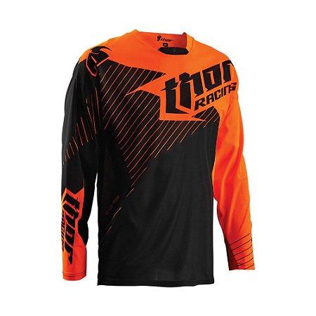 Camisa Thor Core Hux - Preto/Laranja