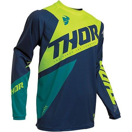 Camisa Thor Sector Blade - Azul/Verde