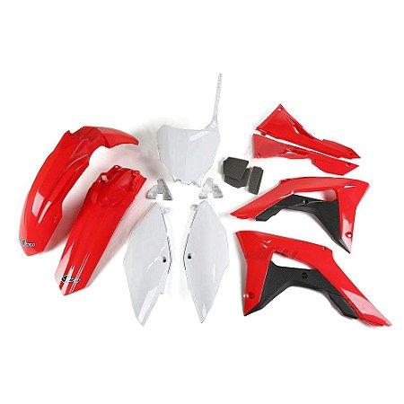 Kit Plástico Ufo CRF 250 18/20 + CRF 450 17/20 - Original - Completo (Sem Protetor De Bengala)