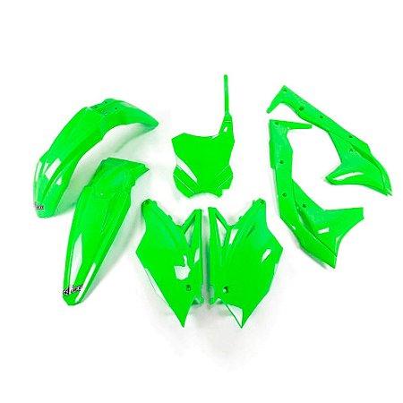 Kit Plástico Ufo KXF 250 18/20 - Verde Fluo (Com Number Frontal)