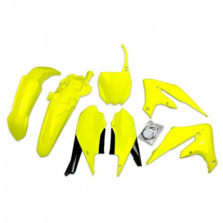Kit Plástico Ufo YZF 250 19/21 + YZF 450 18/21 Amarelo Fluo - Completo (Sem Protetor De Bengala)