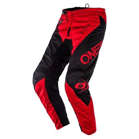 Calça ONEAL Element Racewear - Preto/Vermelho