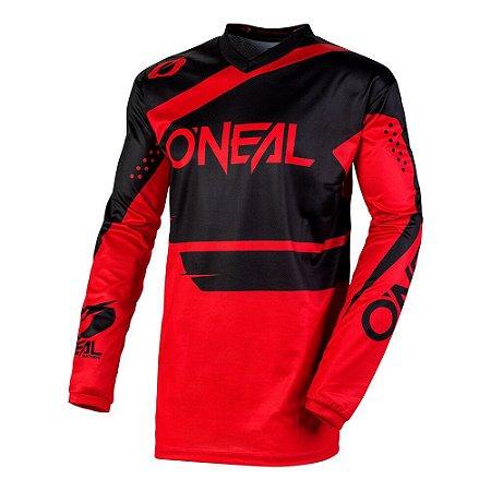 Camisa ONEAL Element Racewear - Preta/Vermelha