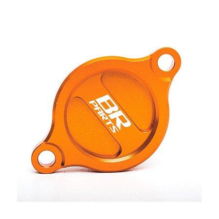 Tampa do Filtro de Óleo BR Parts KTM 250 SX-F/XC-F 2013 + 450 SX-F 07/12 - Laranja