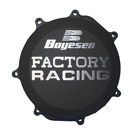 Tampa de Embreagem Boyesen KTM EXC-F 250 13/16 + SX-F/XC-F 250 13/15 + EXC-F 350 12/16 - Preta