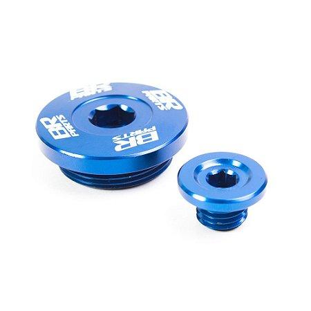 Tampa de Óleo / Motor (Kit) BR Parts YZF 450 06/09 - Azul