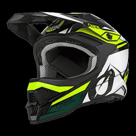 Capacete O'Neal 3Series Helmet Stardust - Preto/Branco/Amarelo
