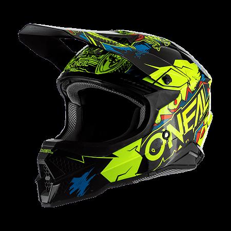 Capacete O'Neal 3Series Helmet Villain 2.0 - Preto/Amarelo