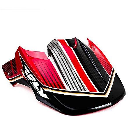 Pala Fly Racing Para Capacete Fly Kinetic - Trey Canard - Vermelho/Preto