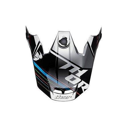 Pala Para Capacete Thor Verge Stack - Preto/Cinza