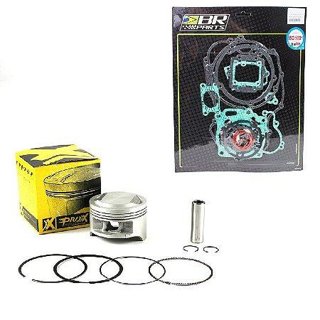 Kit Pistão Anel Prox Alta Comp. 1.75mm e Kit de juntas completo Br Parts CRF 230