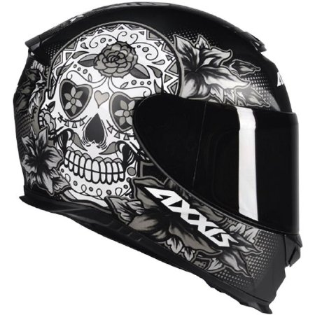 Capacete Axxis Eagle Skull Matte - Preto/Cinza