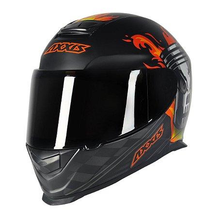 Capacete Axxis Eagle Piston Matte - Preto/Laranja