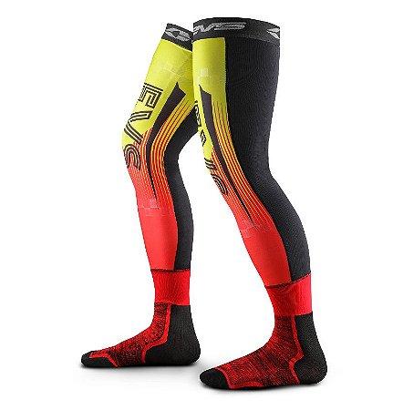 Meião EVS Fusion (Até A Coxa ) - Preto/Amarelo/Vermelho