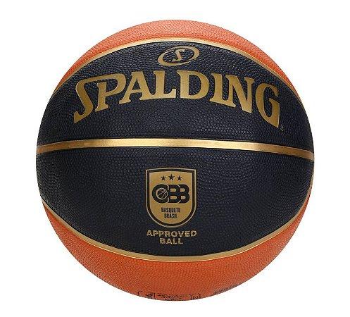 Bola De Basquete Spalding TF50 CBB Preta - Borracha - Outdoor