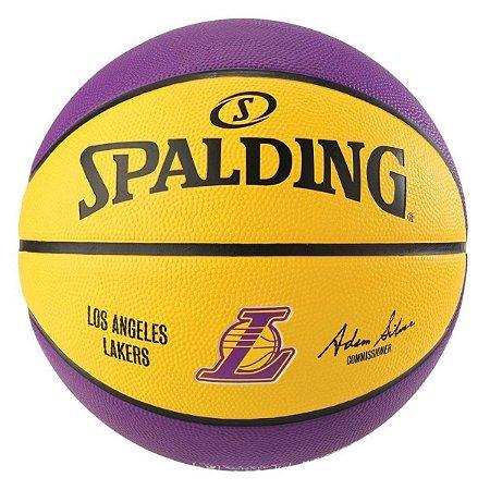 Bola De Basquete Spalding - NBA Lakers - Borracha - Roxa/Amarela