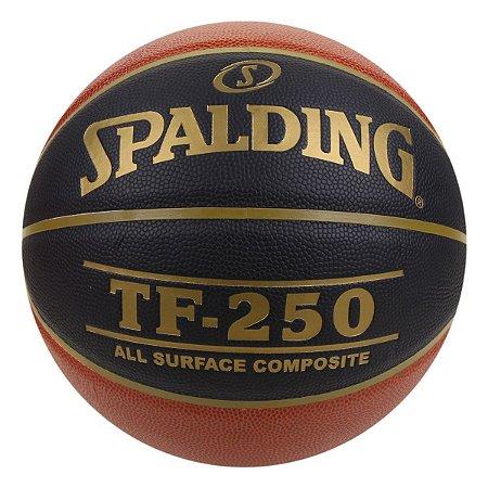 Bola De Basquete Spalding TF250 CBB Preta - Microfibra - Indoor / Outdoor