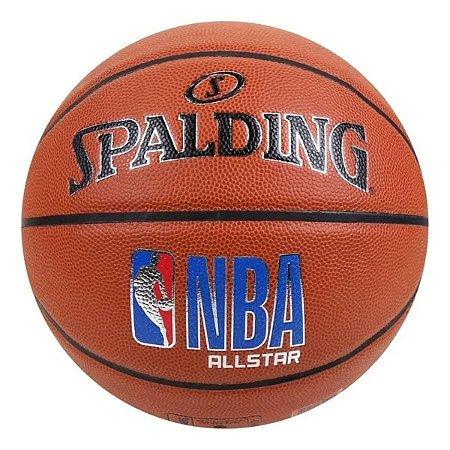 Bola De Basquete Spalding - NBA ALL STAR - Microfibra - Laranja