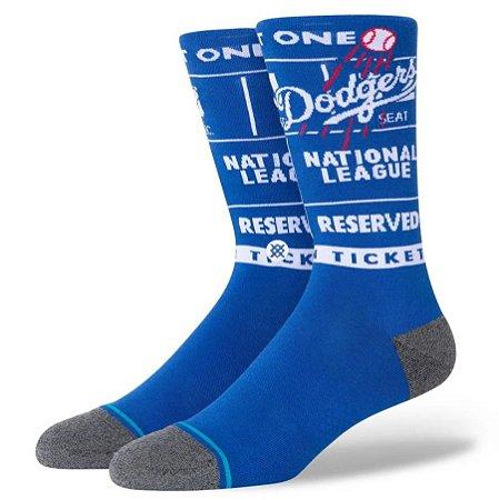 Meia Stance Cano Médio Dodgers Ticket Stub - Branca