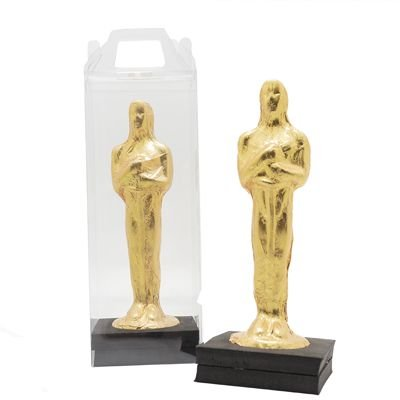 Oscar de Chocolate + Caixa transparente com base