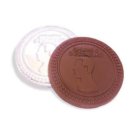 Medalha de Chocolate Personalizada Relevo