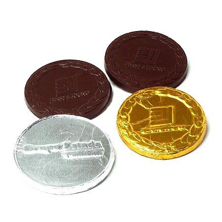 Moeda Relevo de Chocolate Ao Leite - 3,5 Ø