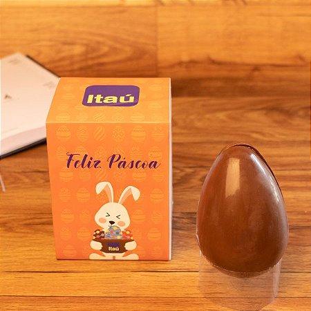 Ovo de Páscoa + Caixa branca com cinta  personalizada 04 cores - 250 gr