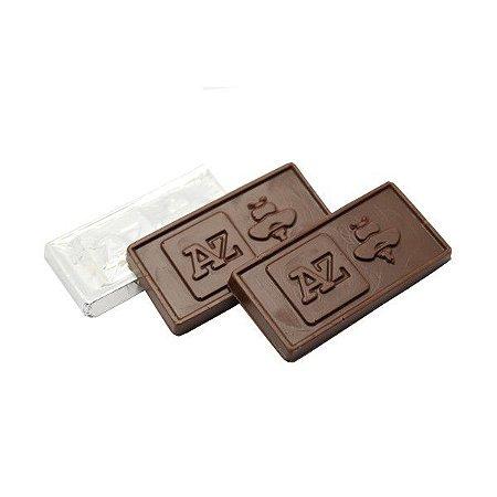 Tablete de Chocolate Personalizado Relevo - 6,0 x 3,5 x 0,5 cm