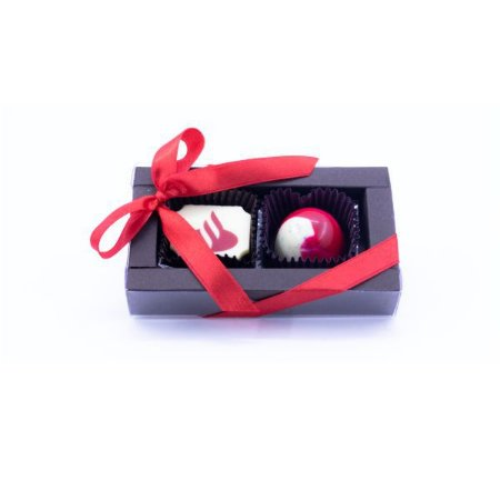 Caixa Luxo 2 Bombons Personalizados 04 Cores