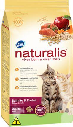 Raçao Total Naturalis Gatos Adultos Salmão & Frutas