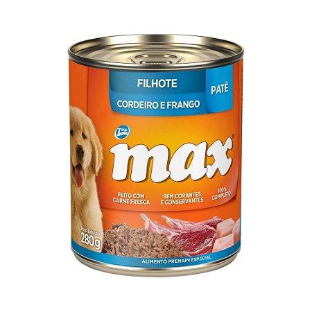 Pate Total Max Cães Filhotes Cordeiro e Frango