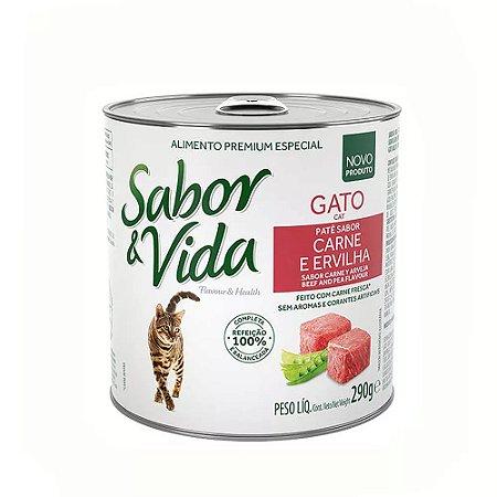 Patê Sabor & Vida Gato - Carne e Ervilha